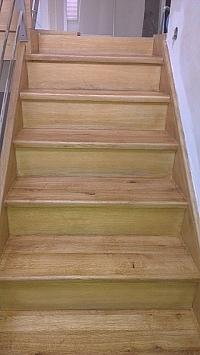 Renovace schodů z terasa