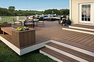 venkovní terasy dřevoplastové